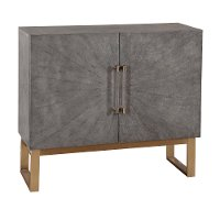 Modern Gray-Purple Painted Faux Shagreen Bar Cabinet - Modern Eclectic