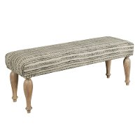 Tribal Block Print Upholstered Bed Bench - Modern Eclectic