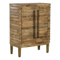 Modern Stacked Wood Bar Storage Cabinet - Modern Eclectic