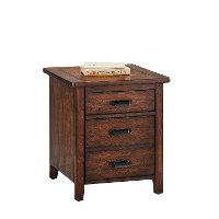 Classic Chestnut Brown Filing Cabinet - Country Roads