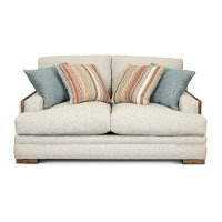Contemporary Cement Gray Loveseat - Giles