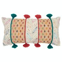 Multi Color, Red and Green Throw Pillow