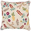 Multi Color Floral Throw Pillow