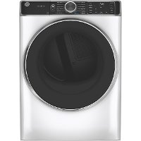 GFD85ESSNWW GE Smart Electric Dryer with Steam - 7.8 cu. ft.  White