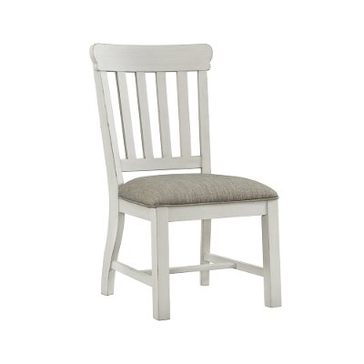Country White Upholstered Dining Room Chair - Drake