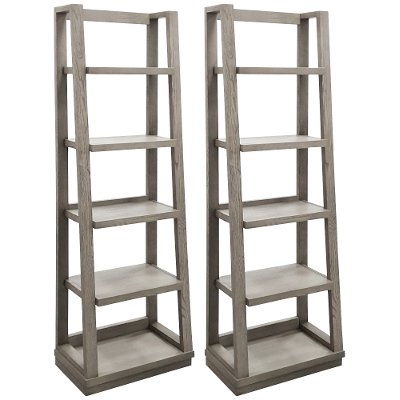 Pure Modern Bookcase Piers Pair - Modern