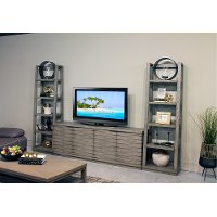 Gray Modern 76 Inch Entertainment Center - Modern