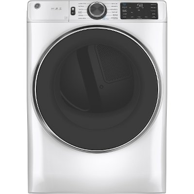 GFD65ESSNWW GE 7.8 cu. ft. Capacity Smart Front Load Electric Dryer with Steam - White