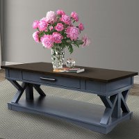 Denim Blue Country Coffee Table