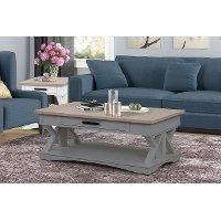 Dove Gray Country Coffee Table
