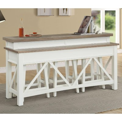 Cotton White Country Sofa Bar Table