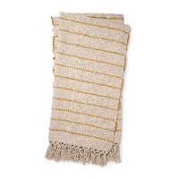 Magnolia Home Furniture Natural and Gold Striped Throw Blanket