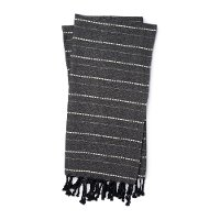 Magnolia Home Furniture Charcoal and Natural Throw Blanket