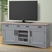 Dove Gray 63 Inch Country TV Stand - Americana