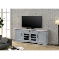 Country Style Dove Gray 76 Inch TV Stand