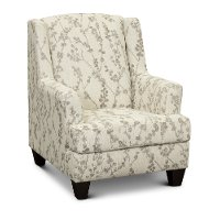 Traditional Linen White Accent Chair - Celadon