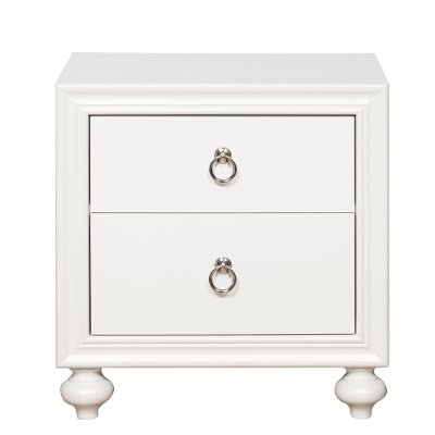 Traditional White Nightstand - Bella