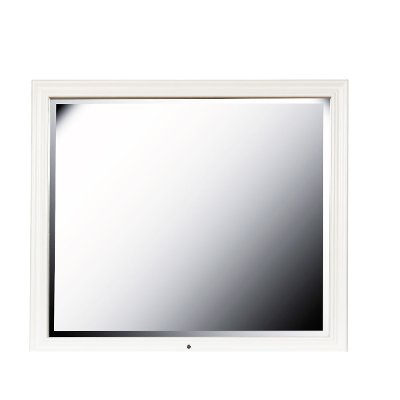 Traditional White Mirror with LED Lights - Bella