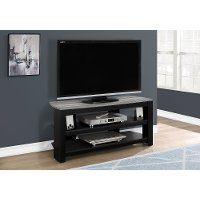 Contemporary Black and Gray Corner TV Stand