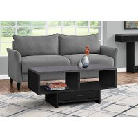 Modern Black and Gray Coffee Table with Storage - Faye