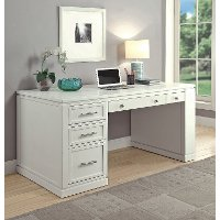 Cottage White 60 Inch Writing Desk