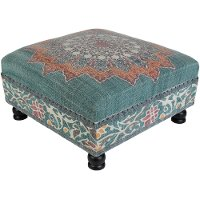 SURA-001 Square Multi Color Bench with Wood Base