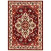 5 x 8 Medium Red and Ivory Area Rug - Lilihan