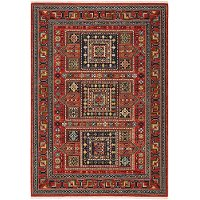 8 x 10 Large Red and Multi Area Rug - Lilihan