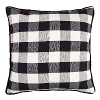 Black and White Buffalo Check Euro Sham