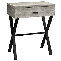Gray Accent Table with Drawer