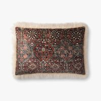 Multi Color and Ivory Rectangle Throw Pillow