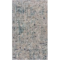 5 x 8 Medium Blue Harbor Mist Area Rug - Imagine