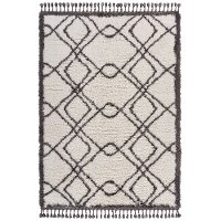 5 x 8 Medium White and Gray Area Rug - Outlander