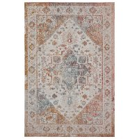 5 x 8 Medium Persian Beige, Cream, and Rust Indoor-Outdoor Area Rug - Antiquity