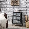 Multi Textured Metal Gray and Galvanized 3 Drawer Chest - Armata