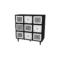 Black and White Theo Accent Cabinet