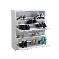 White Deluxe Double Shoe Cabinet - Sepulveda