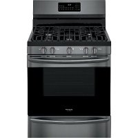 GCRG3060AD Frigidaire 30 Inch Gas Range with Air Fry - Black Stainless Steel