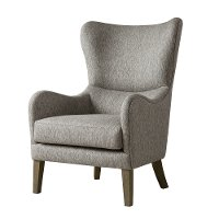 Modern Gray Swoop Wing Accent Chair - Arianna