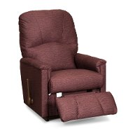 10-795/B654807 Casual Garnet Burgundy Rocker Recliner - Mercury