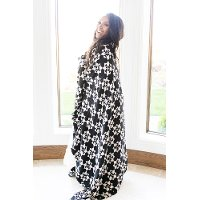 Black and White XL Muslin Quilt Blanket - Avalon