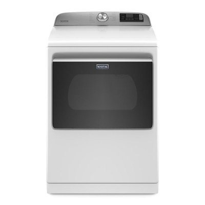 MED7230HW Maytag Smart Capable Electric Dryer with Extra Power Button - 7.4 Cu. Ft.