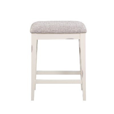 White Upholstered Counter Height Stool - Winslow