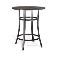 Dark Brown 42 Inch Pub Table - Barrel