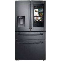 RF22R7551SG Samsung French Door Food Showcase Smart Refrigerator - Counter Depth, 22.4 cu. ft., 36 Inch Black Stainless Steel