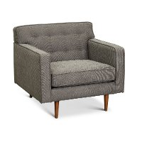 Mid Century Modern Storm Gray Chair - Rosa