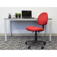Red Microfiber Task Office Chair