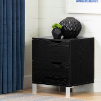 12134 Contemporary Black Nightstand - Kanagane