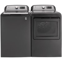 KIT GE Top Load Washer and Electric Dryer - Diamond Gray