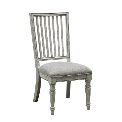 Traditional Gray Slat Back Dining Room Chair - Madison Ridge